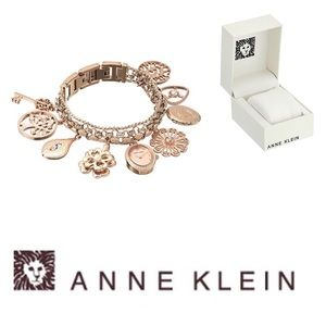 Anne Klein Swarovski Crystal RGT Charm Watch
